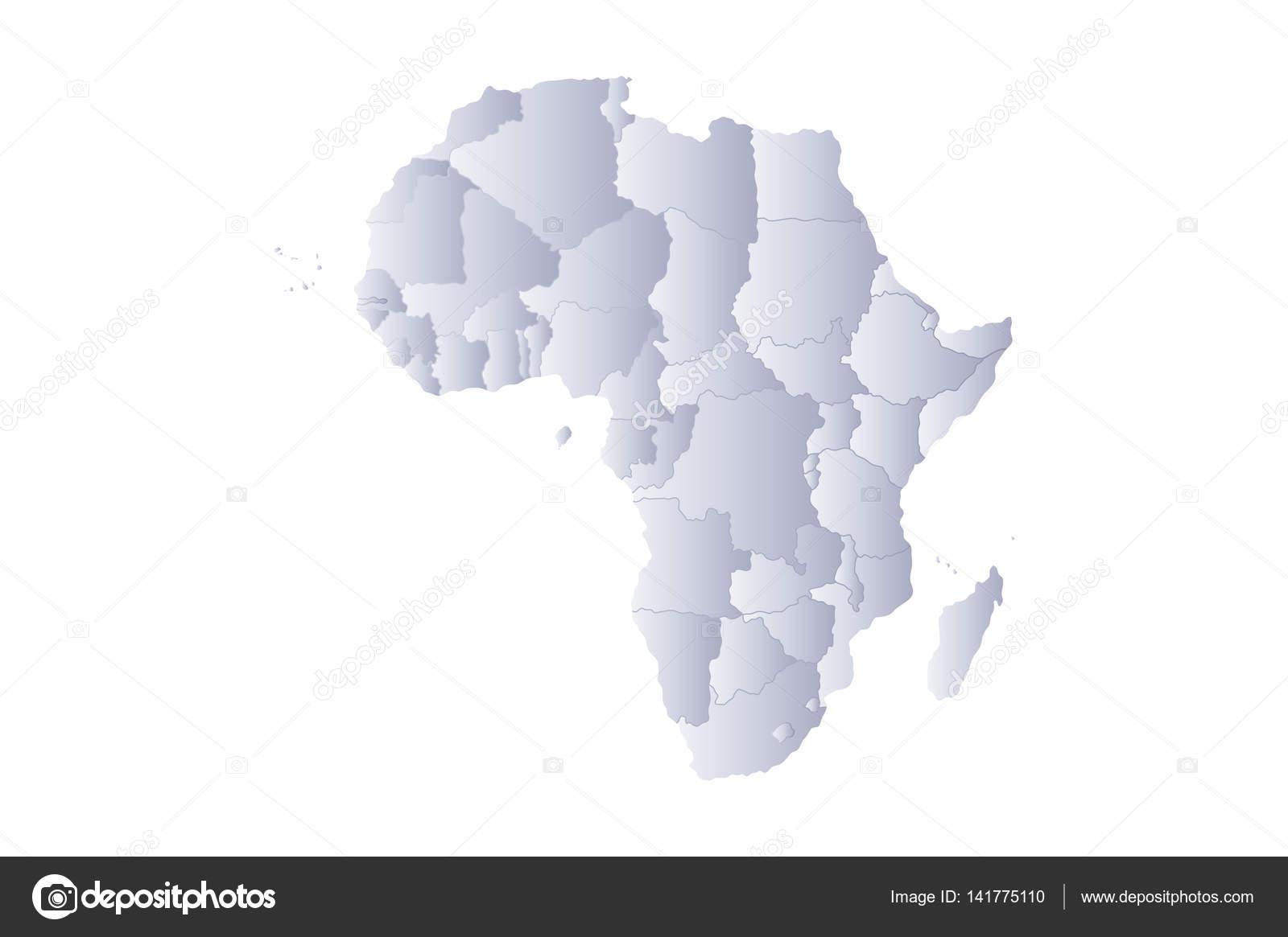 carte afrique grise image vectorielle noche0 141775110. Black Bedroom Furniture Sets. Home Design Ideas