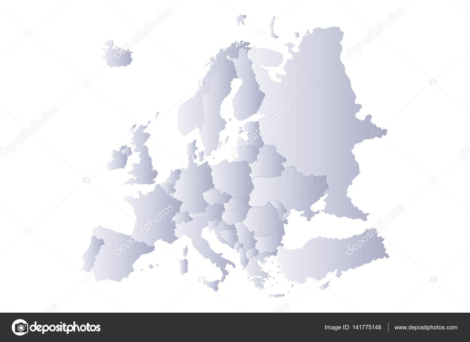 Carte Europe Grise.Carte Europe Gris Image Vectorielle Noche0 C 141775148