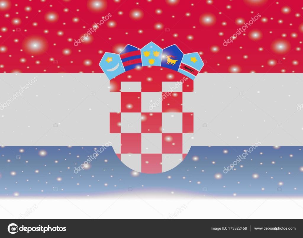 Weihnachten In Kroatien.Kroatien Flagge Auf Weihnachten Hintergrund Stockvektor Noche0