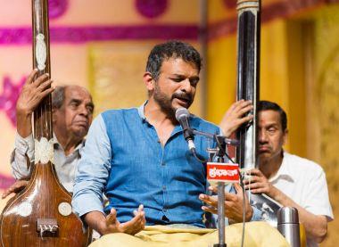 Acclaimed Carnatic music singer T M Krishna in concert