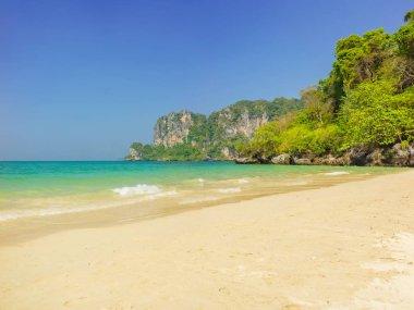 Tropical beach of Krabi in  Thailand