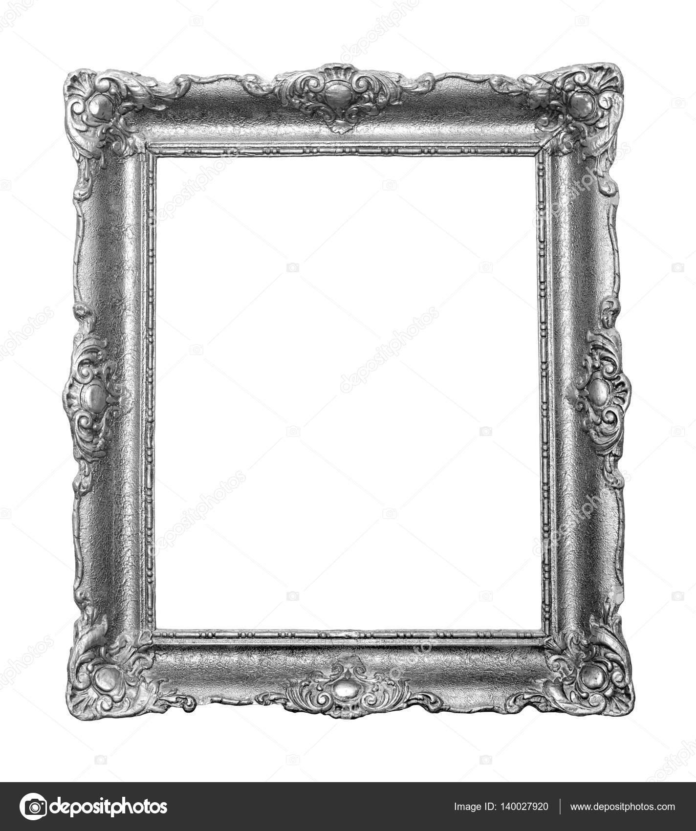 Marco color plata vintage hermoso para pinturas decoradas con tallas ...