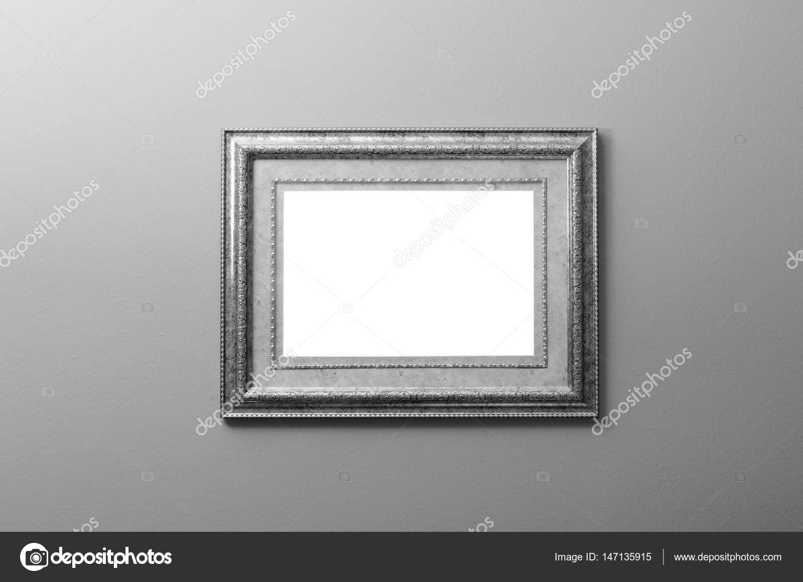 Schöne alte Holz Malerei Rahmen montiert an der Wand in schwarz ...