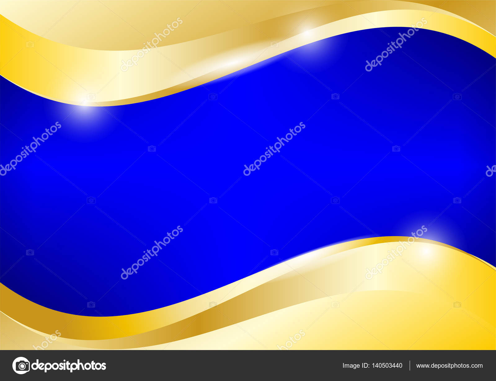 Background Blue And Gold Designs Blue And Gold Background Vector Graphic Design Stock Vector C Kanawatvector 140503440