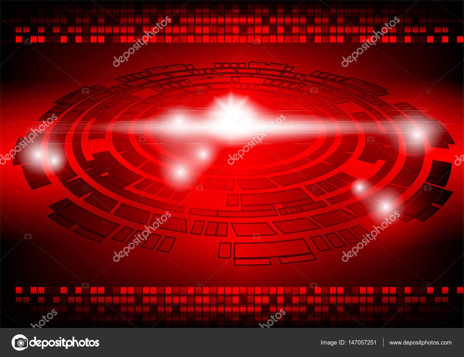 Sfondo Rosso Scuro Concetto Di Tecnologia Del Futuro Astratto Di