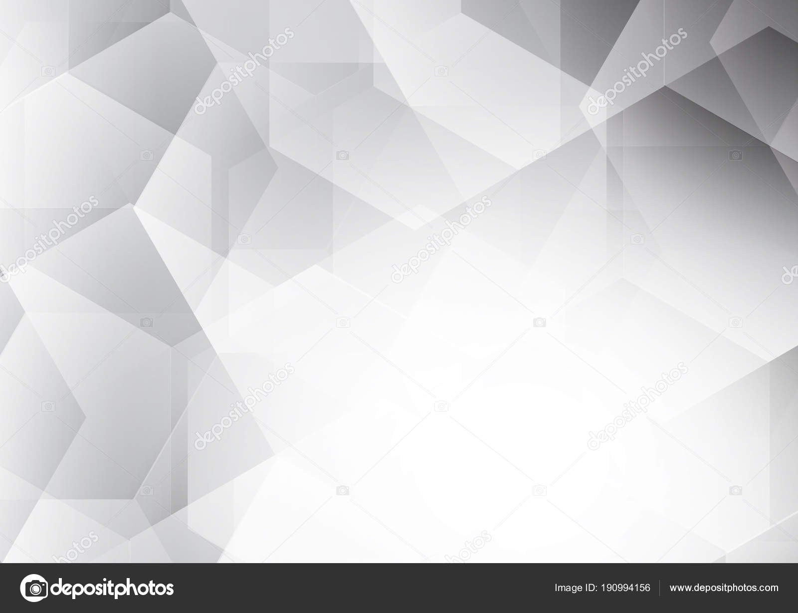 Fond Abstract Vector Polygone Futuriste Moderne Couleur Blanc Gris