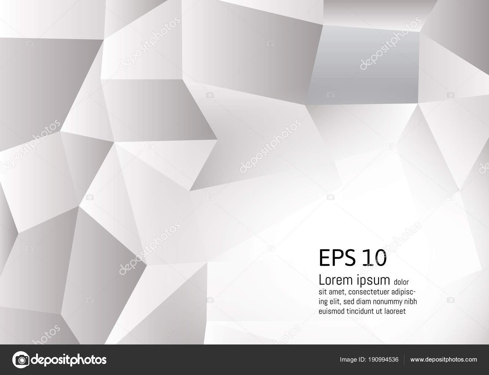 abstrait gris blanc couleur fond polygone illustration vectorielle