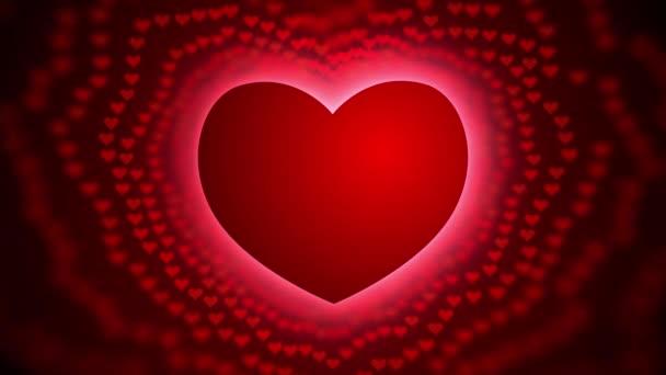 Piros szív repülő, Romantikus háttér az esküvő, Valentin-nap, Anyák napja, házassági évforduló üdvözlőlapok, esküvői meghívó, Motion háttér 4k
