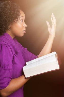 Woman Worshipping God