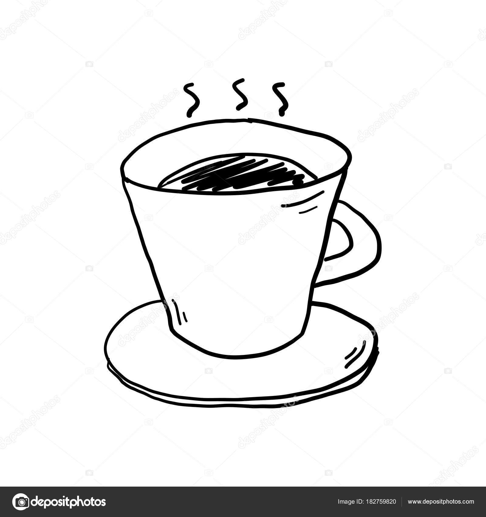 desenho de xícara de café vetores de stock keeweeboy 182759820