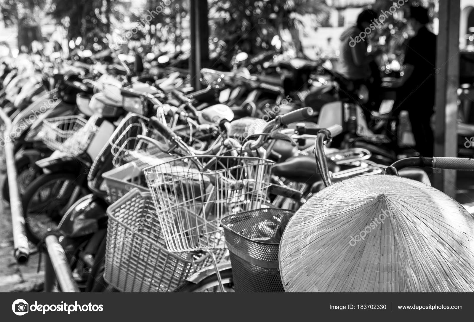 Vietnamese conical hat and bicycles 3fbdc83730b