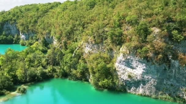 gyönyörű táj, zöld Nemzeti Park Plitvicei-tavak