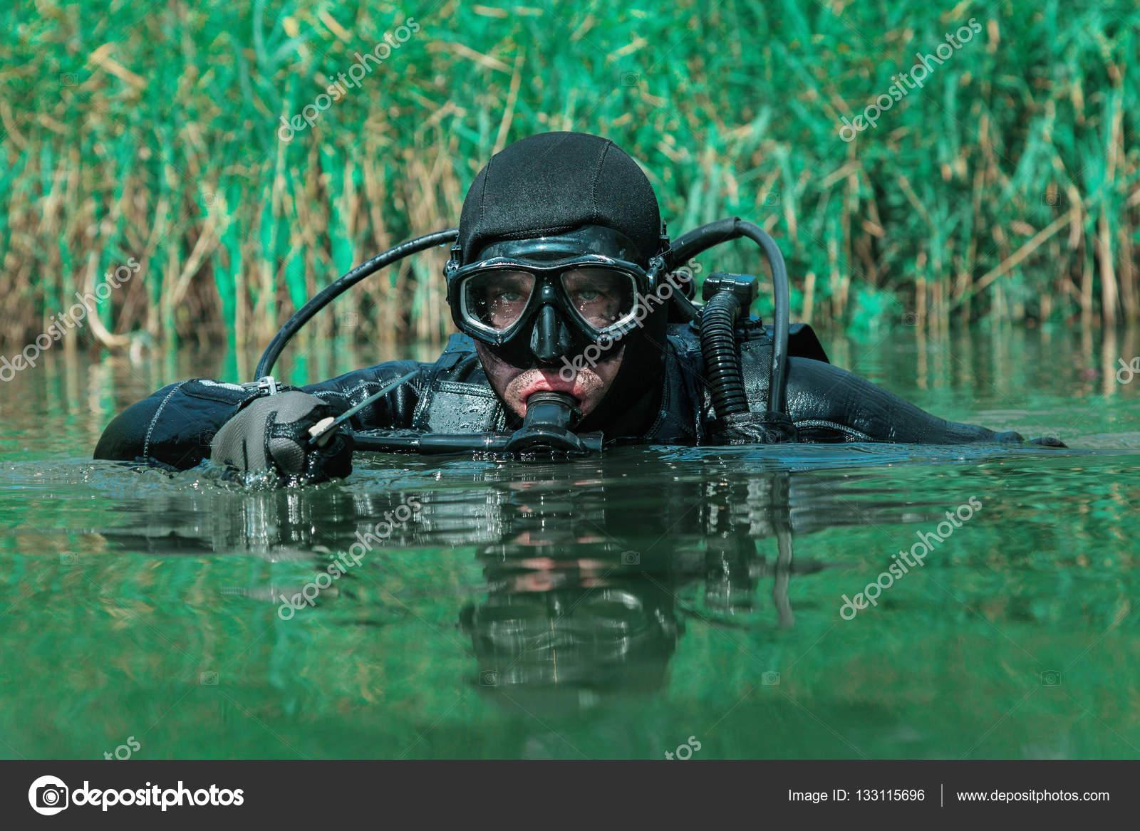 Navy SEAL frogman — Stock Photo © zabelin #133115696