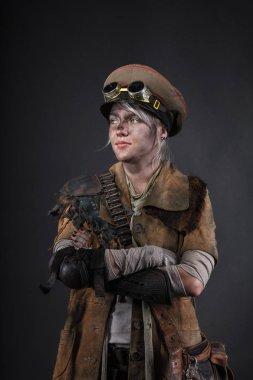 Post apocalypse female survivor