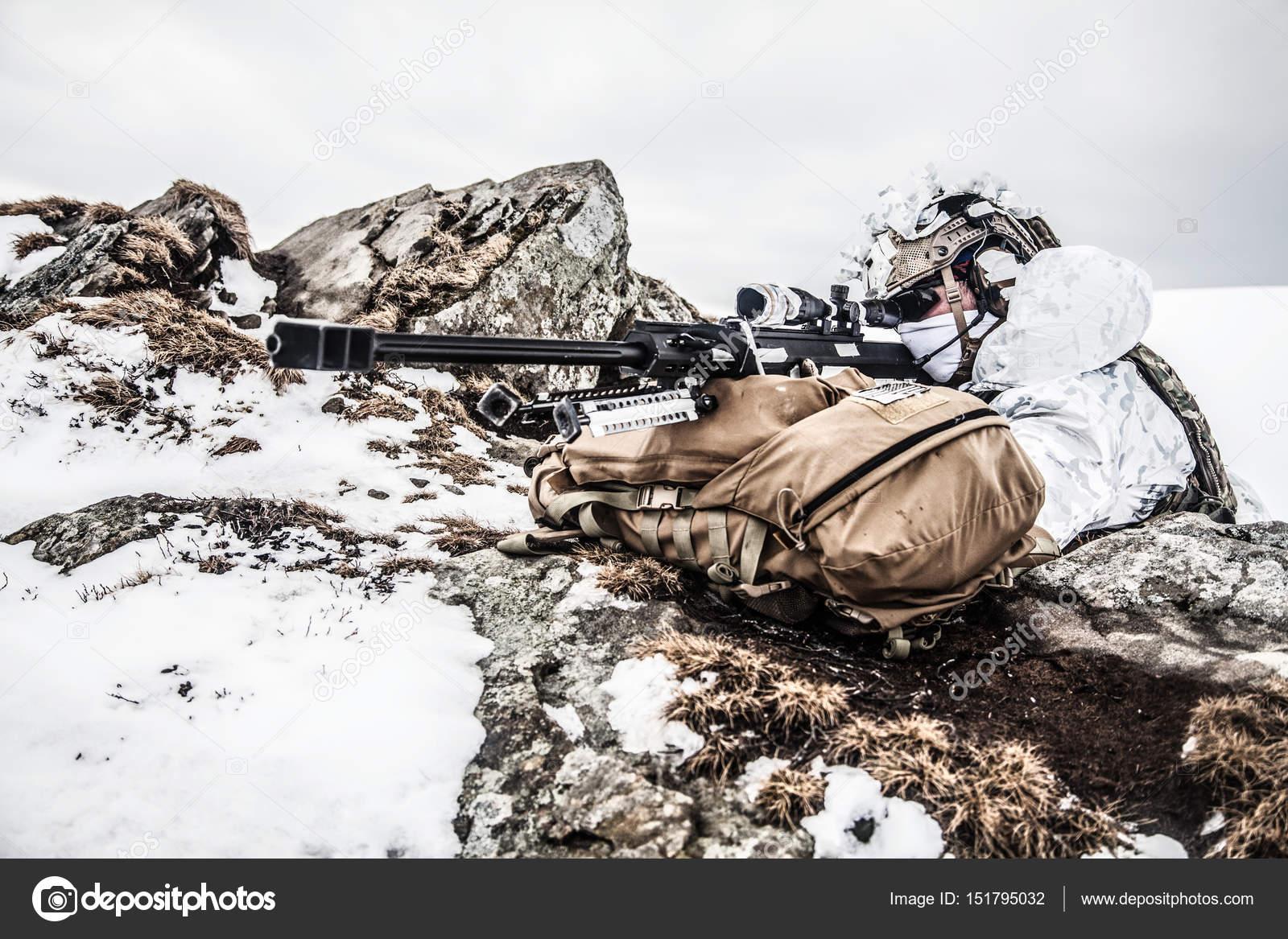 冬の山岳戦 — ストック写真 © za...