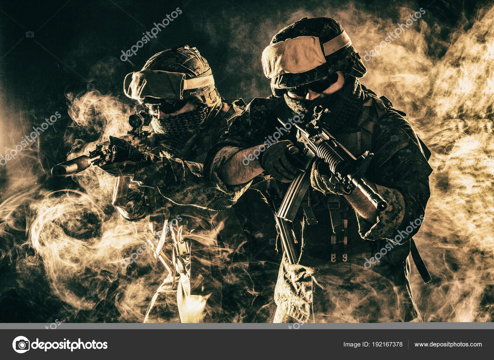 US Marine Soldier  Fighting for freedom — Stock Photo