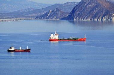huge oil tanker