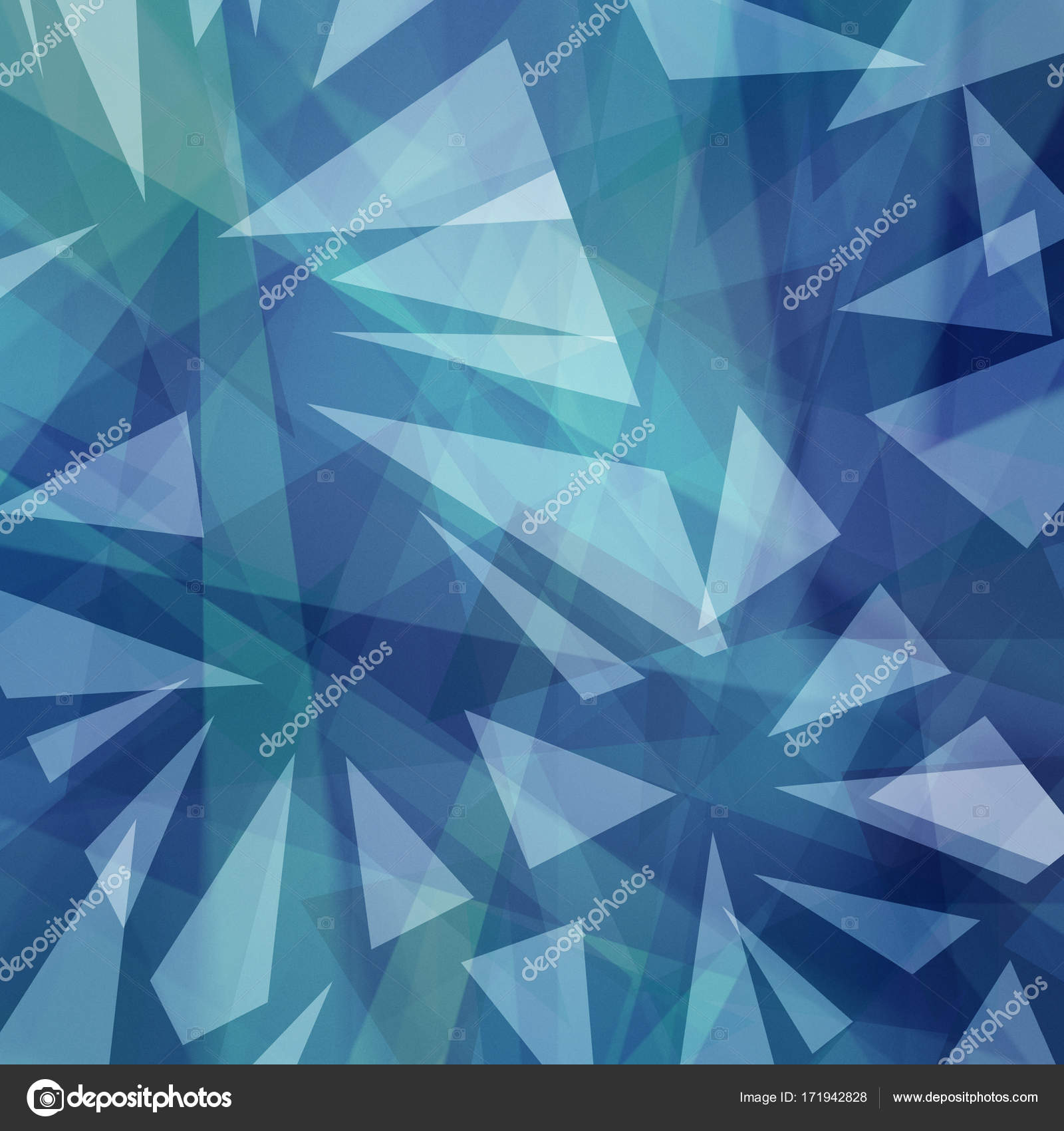 Abstract Triangle Shapes Layered In Random Pattern Purple Blue And White Background Modern Art Style Transparent Geometric Shard Design Photo By