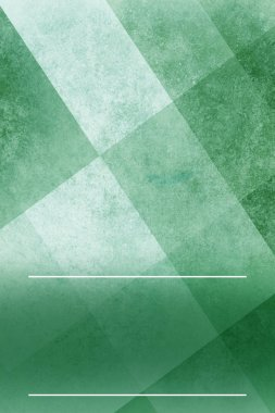 abstract green background layout with triangle and square shapes in angled block pattern