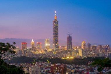 Aerial view of Taipei city