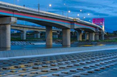 Bridge at night in Chubei city