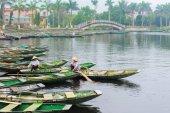 Tam Coc přístaviště ve Vietnamu