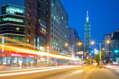 Night view of Taipei city