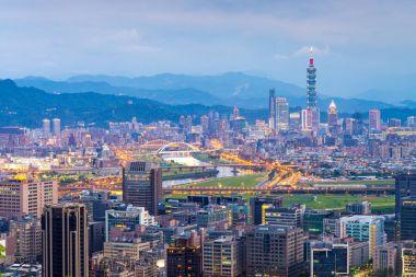 skyline of taipei city