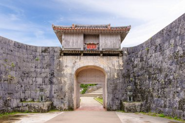 Kankaimon gate in okinawa