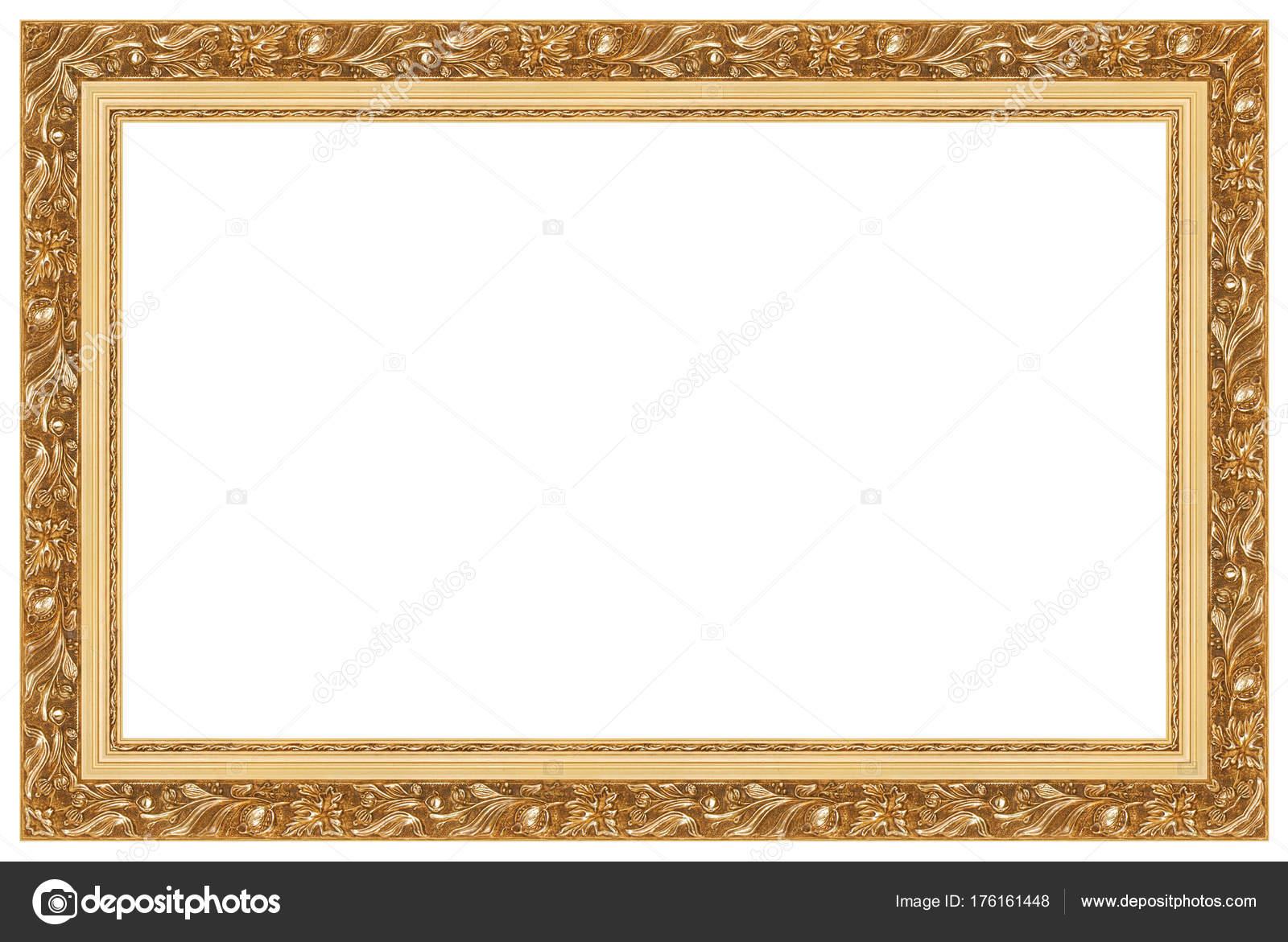 Leere Goldene Bilderrahmen — Stockfoto © Romaset #176161448