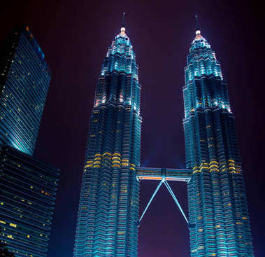 KUALA LUMPUR - 2015, MARCH 12: Twin towers Petronas.