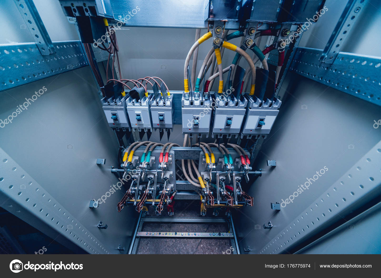 Wires Switches Electric Box Electrical Panel Fuses Contactors ...