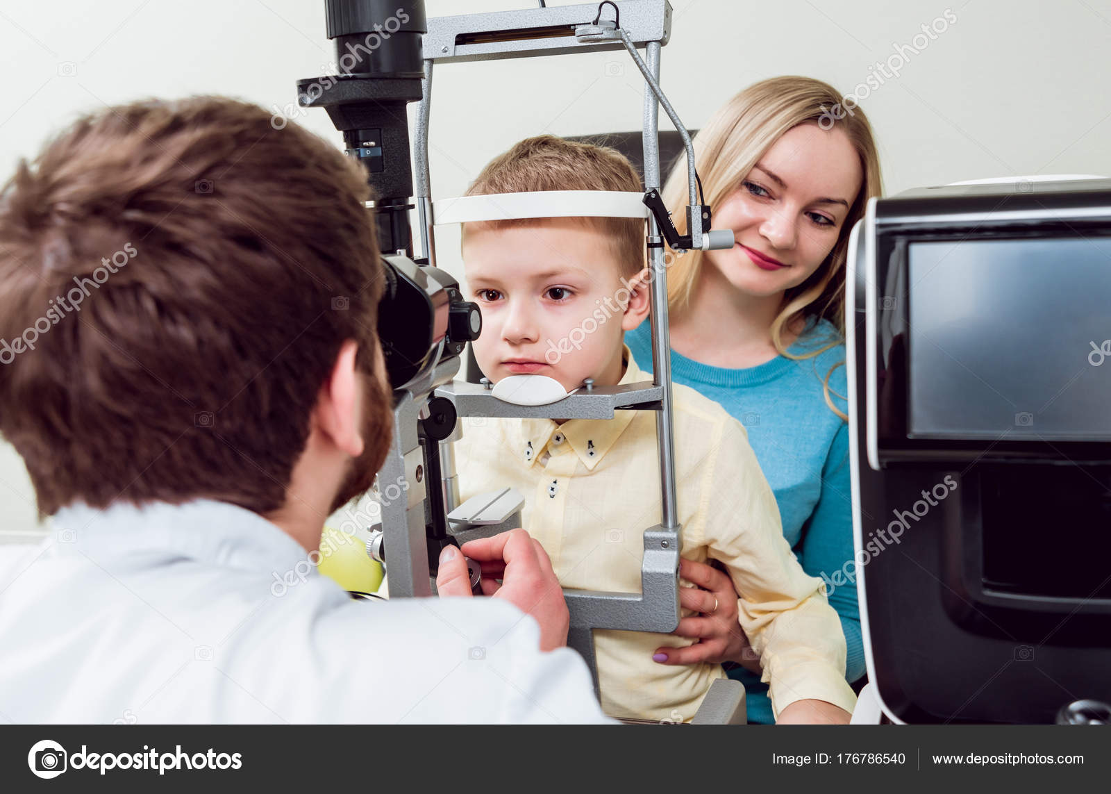 f09e0b2a005 Slit Lamp Examination Biomicroscopy Anterior Eye Segment Basic Eye  Examination — Stock Photo