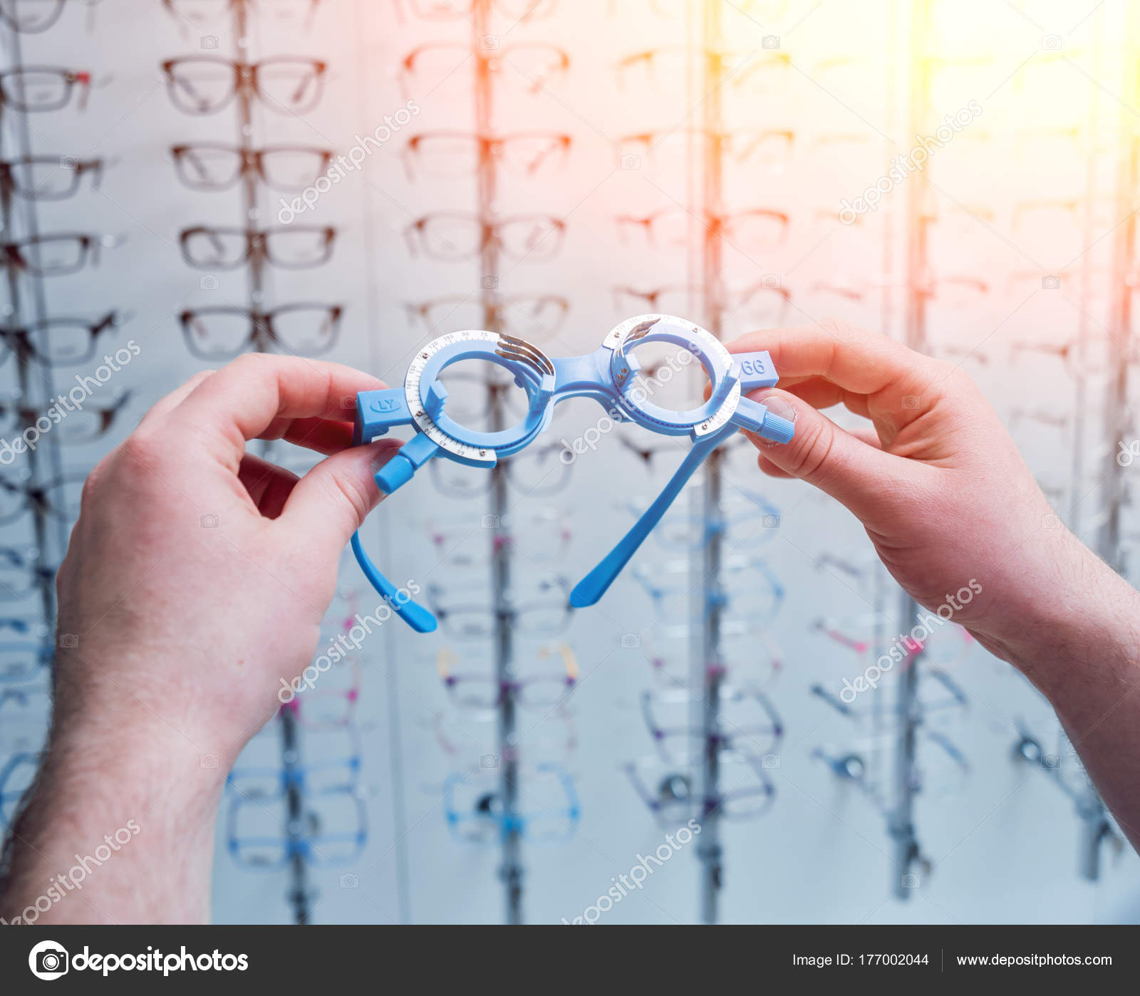 Marco Ensayo Gafas Prueba Optometría — Fotos de Stock © Romaset ...