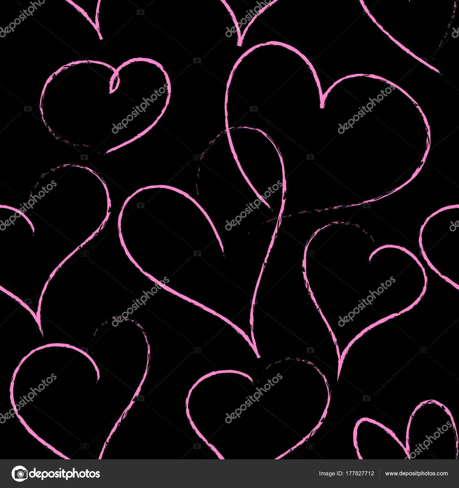 Background Black And Pink Hearts Wallpaper Pink Hearts On The