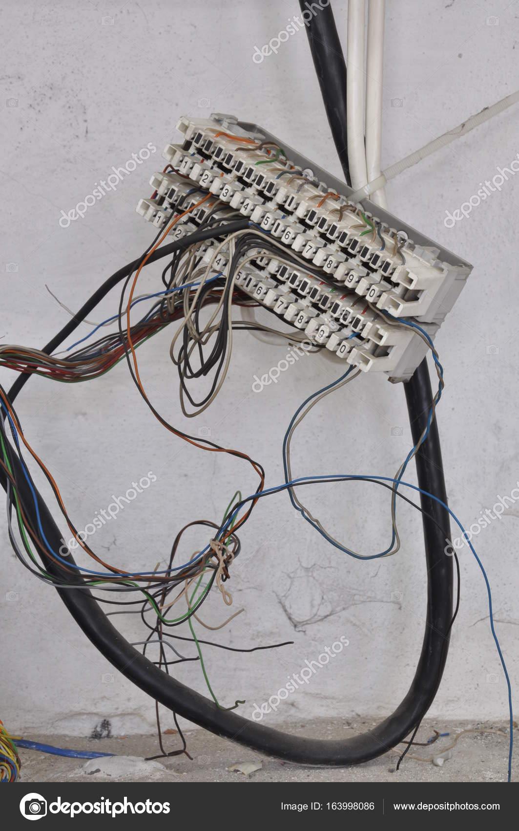 Telecommunication copper wires — Stock Photo © Zetor2010 #163998086