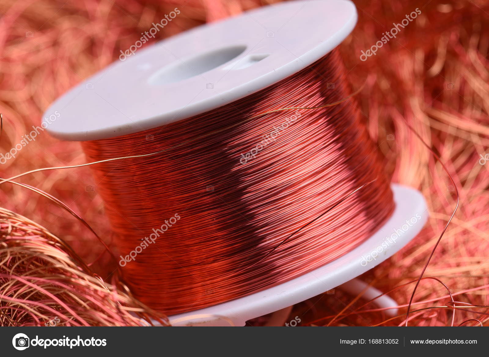 Inductor copper coil closeup — Stock Photo © Zetor2010 #168813052