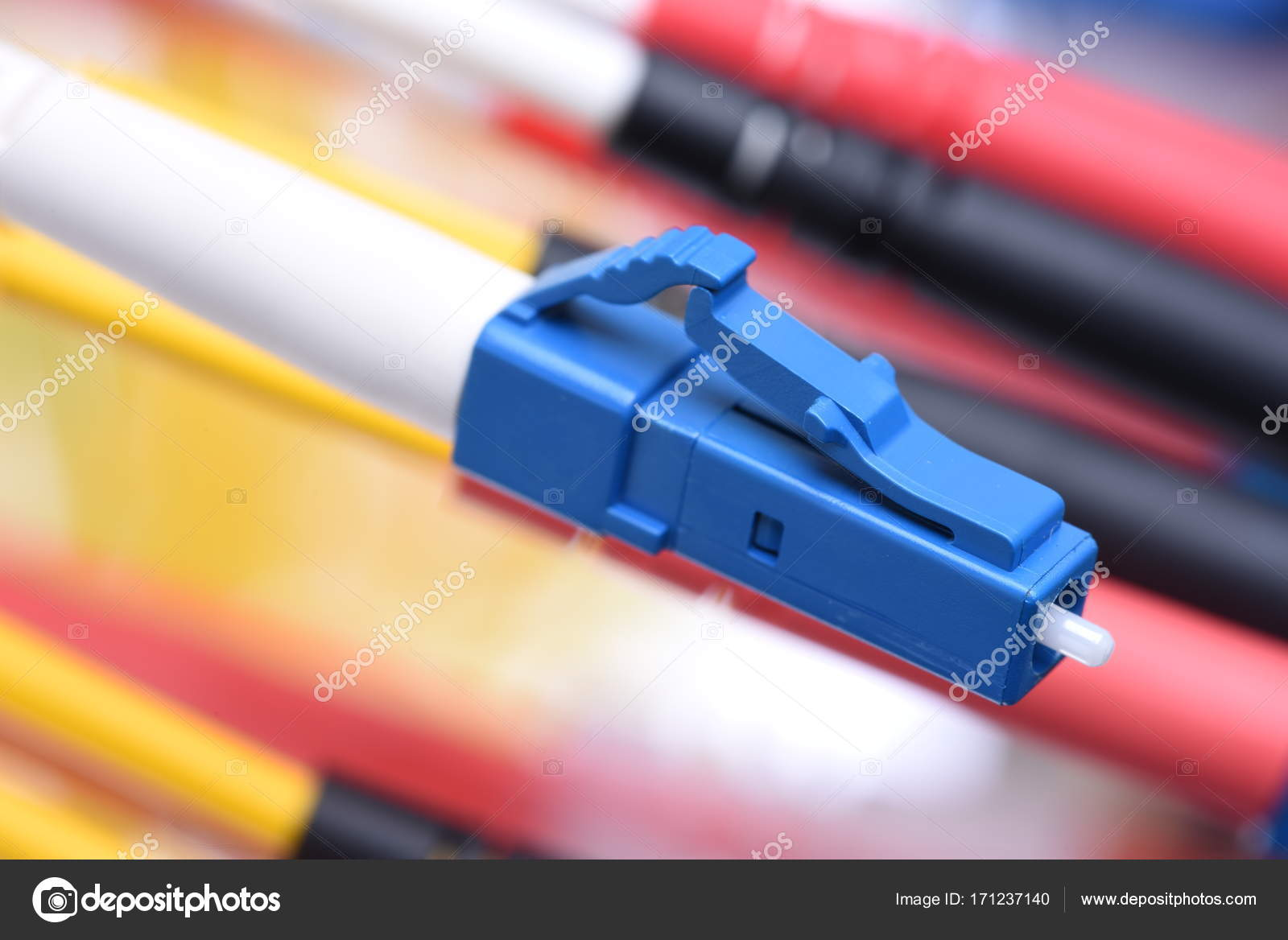 Fiber Optic Cable Plug Type Close Concept High Speed Internet ...