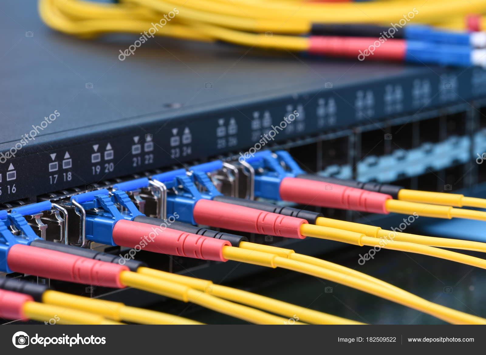 Switch Fiber Optic Cables Data Center Stock Photo Zetor2010 Wiring