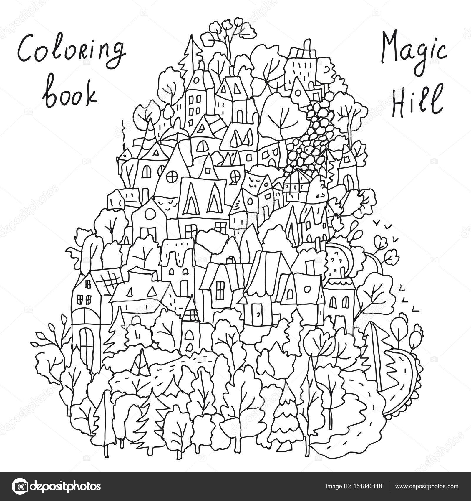 Animado Paisaje Para Colorear Dibujos Animados Para Colorear Con