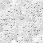 Photo Flower seamless pattern background with 3D elements with shadows