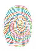 Színes ujjlenyomat. Biztonságos azonosítás