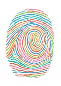 Farbe-Fingerabdruck. Sichere Identifizierung