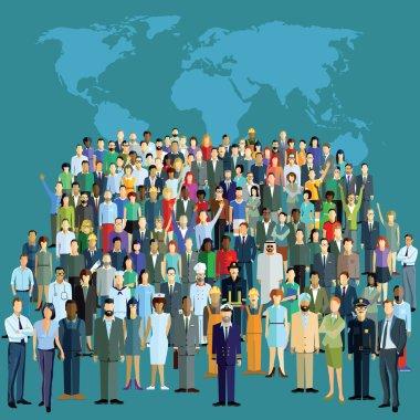 World population, global network