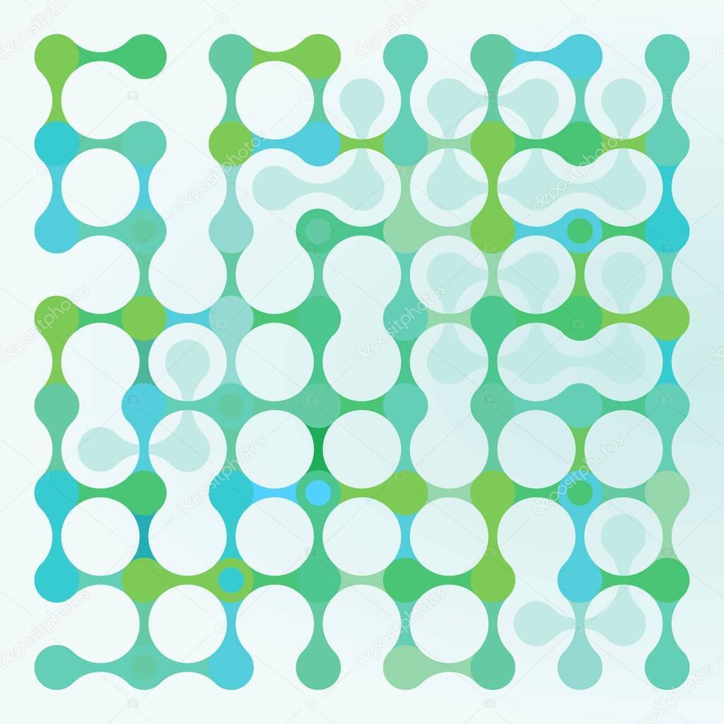 Molecular Gene, green, abstract