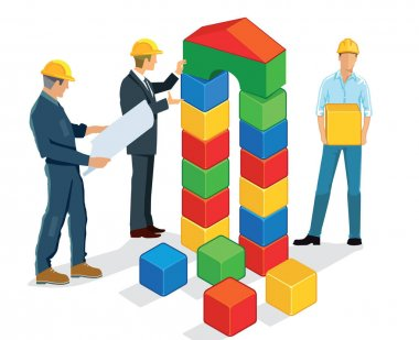 Planning and building with building blocks
