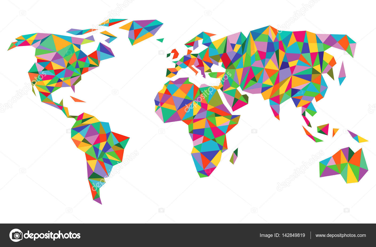 Colorful world map isolated stock vector scusi0 9 142849819 colorful world map isolated on white vector by scusi0 9 gumiabroncs Gallery