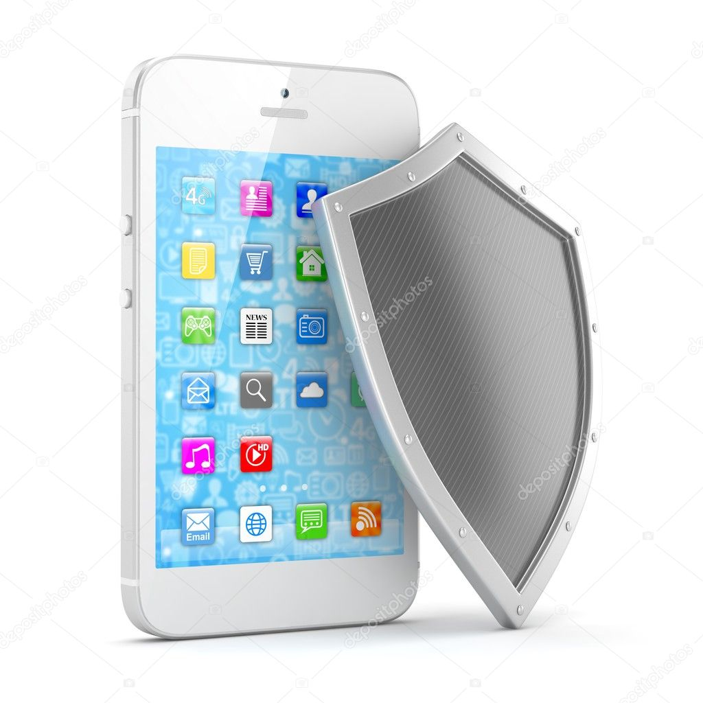 security concept with smartphone