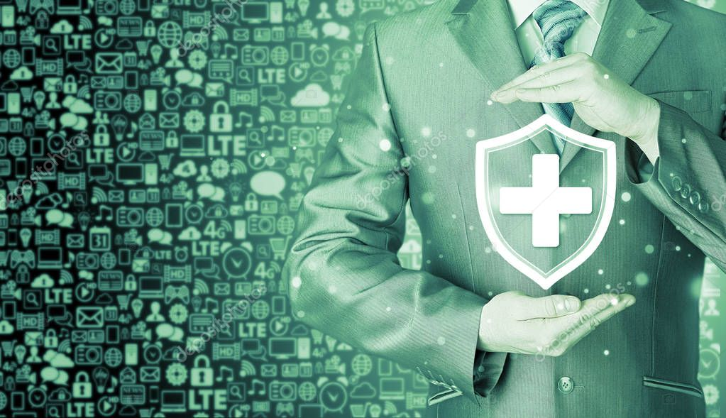 Health protection and insurance concept