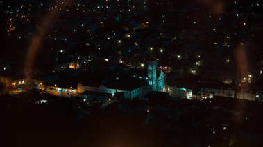 Evening lights of city
